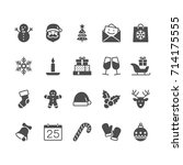 christmas flat icons | Shutterstock .eps vector #714175555