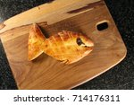 a loaf of bread shaped and...   Shutterstock . vector #714176311