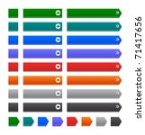 color web buttons on white   Shutterstock . vector #71417656