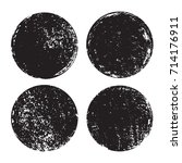 set of grunge post stamps... | Shutterstock .eps vector #714176911