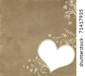 vintage elegant heart frame... | Shutterstock . vector #71417935