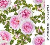 floral seamless pattern. flower ...   Shutterstock . vector #714185965