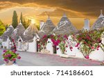 trulli houses in alberobello... | Shutterstock . vector #714186601