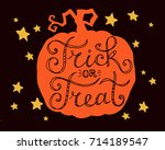 trick or treat  hand drawn... | Shutterstock .eps vector #714189547