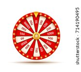 wheel of fortune lottery luck... | Shutterstock .eps vector #714190495