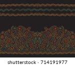 vector seamless border in...   Shutterstock .eps vector #714191977