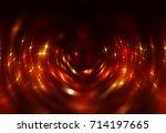 infinite round tunnel on orange ... | Shutterstock . vector #714197665