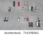 aerial view of car parking top...   Shutterstock . vector #714198361