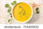 lentils soup | Shutterstock . vector #714203431