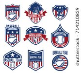 set of baseball emblems.... | Shutterstock .eps vector #714210829