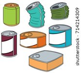 vector set of can | Shutterstock .eps vector #714214309