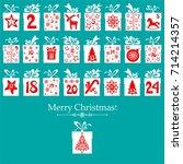 merry christmas. advent... | Shutterstock .eps vector #714214357