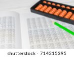 mental arithmetic blurred... | Shutterstock . vector #714215395
