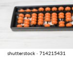 mental arithmetic blurred... | Shutterstock . vector #714215431