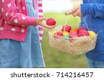 Children With Basket Of...
