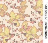 blackberry seamless pattern...   Shutterstock . vector #714221104