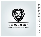 Lion Head Logo Design Template...
