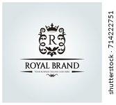 royal brand logo design... | Shutterstock .eps vector #714222751