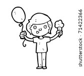 kid with balloon and icecream... | Shutterstock .eps vector #71422366