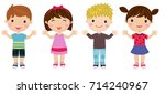 group of children | Shutterstock .eps vector #714240967