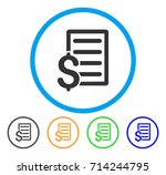 business contract icon. vector... | Shutterstock .eps vector #714244795