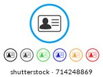 account card icon. vector... | Shutterstock .eps vector #714248869