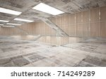abstract  concrete and wood... | Shutterstock . vector #714249289