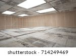 abstract  concrete and wood... | Shutterstock . vector #714249469