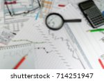 financial analytics and graphs. ... | Shutterstock . vector #714251947