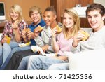 group of teenage friends... | Shutterstock . vector #71425336