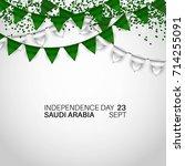 festive banner with national... | Shutterstock .eps vector #714255091