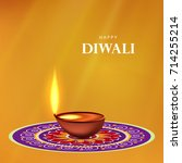 happy diwali wallpaper design... | Shutterstock .eps vector #714255214