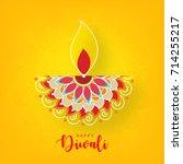 happy diwali wallpaper design... | Shutterstock .eps vector #714255217