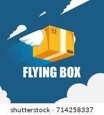 flying box | Shutterstock .eps vector #714258337