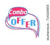 combo offer banner template... | Shutterstock .eps vector #714265855