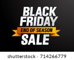 black friday sale. end of... | Shutterstock .eps vector #714266779