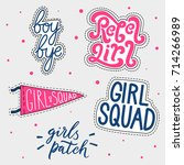 Set Of Girl's Patches. Magical...