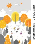autumn drawing illustration | Shutterstock .eps vector #714273385