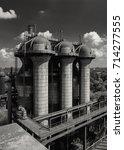 old blast furnace equipment of... | Shutterstock . vector #714277555