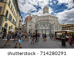 florence  firenze   july 28 ... | Shutterstock . vector #714280291