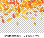 autumn leaves falling down... | Shutterstock .eps vector #714284791