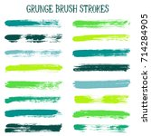 modern watercolor daubs set ... | Shutterstock .eps vector #714284905