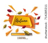 autumn banner with abstract... | Shutterstock . vector #714285211