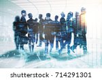abstract businessmen... | Shutterstock . vector #714291301