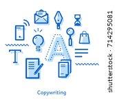 business advertising... | Shutterstock .eps vector #714295081
