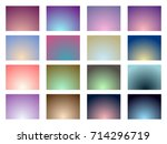 set of gradient backgrounds.... | Shutterstock .eps vector #714296719