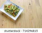 quick fried water spinach... | Shutterstock . vector #714296815