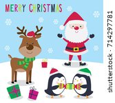 cute christmas character | Shutterstock .eps vector #714297781