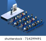 presentation of a new phone or... | Shutterstock .eps vector #714299491