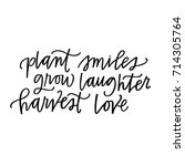 plant smiles  grow laughter ... | Shutterstock .eps vector #714305764